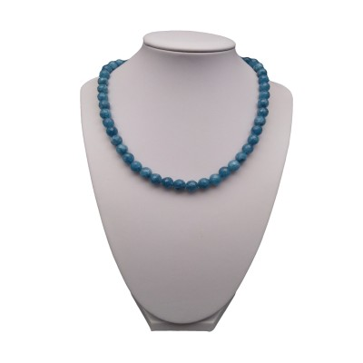 Necklace - faceted jade blue 42 or 43 cm PGNka20