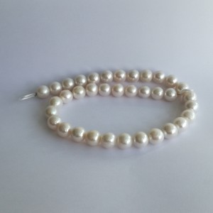 Pearls - round white PE17