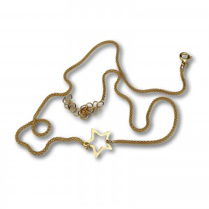 Gold-plated silver star chain 42 cm SLPC13M