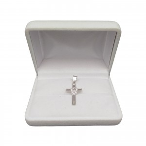 Silver classic cross with an eagle SK085
