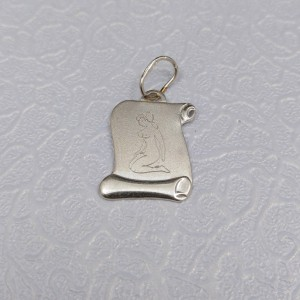 Silver pendant of the zodiac sign Miss SSZD1606