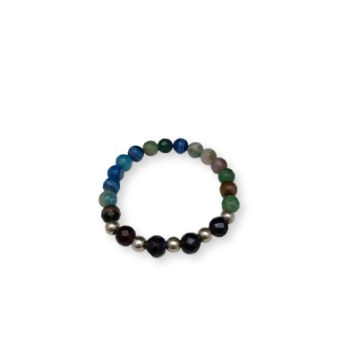 Bracelet with colorful faceted agate KB05-1