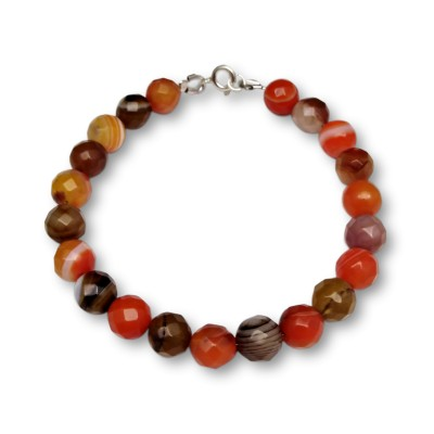Bracelet with orange agates KB05-2