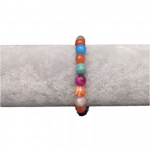 Bracelet with colorful faceted agate KB05