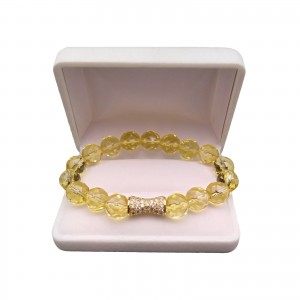 Bracelet with faceted lemons KB16-2