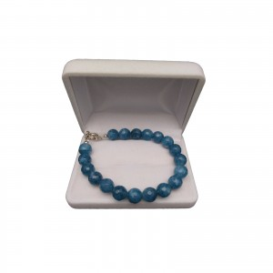 Bracelet - blue jade faceted PGBka20