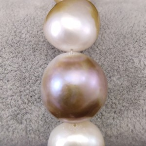 Bracelet with real baroque pearls 20 cm PB01