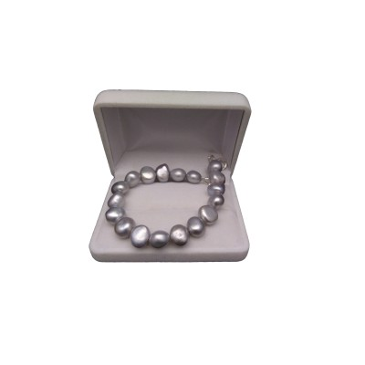 Silver bracelet with real corn pearls 18, 19 or 20 cm PB03