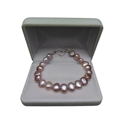 Bracelet with real corn pearls, roses 17, 18, 19 or 20 cm PB10-A