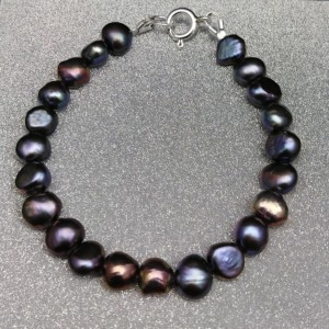 Bracelet made of real graphite pearls corn 18, 19, 20 cm PB10-D