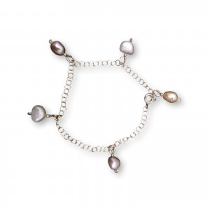 Chain bracelet and pearls PB10