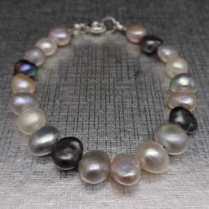 Multicolored bracelet with freshwater pearls 18, 19 or 20 cm PB10MIX
