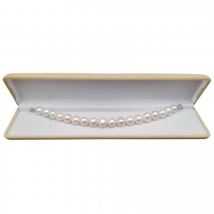Classic bracelet with round white pearls 19, 20 or 21 cm PB13-B
