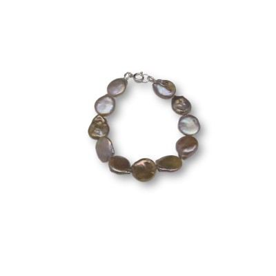 Coin pearl bracelet in shades of copper PB21-C
