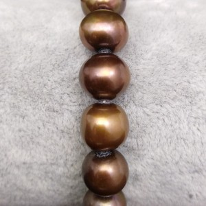 Bracelet made of real round brown pearls 19, 20 or 21 cm PB28