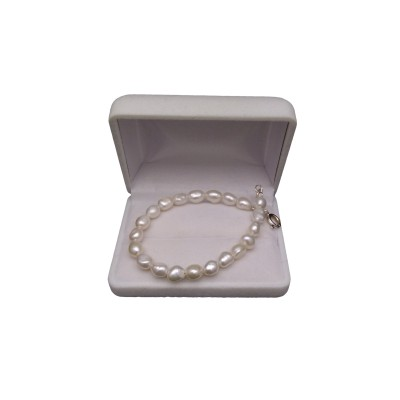 Bracelet - pearls white rice PB35-A