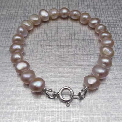 Pearl bracelet with pink corn pearls PB38-B