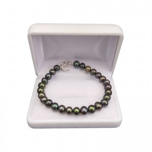 Bracelet made of real round pearls 19 or 20 cm PB44