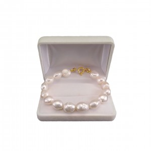 Bracelet made of real white baroque 19, 20 or 21 cm PBP03-1A