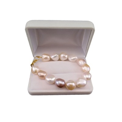 Multicolor bracelet with 19, 20 lub 21 cm baroque pearls PBP07