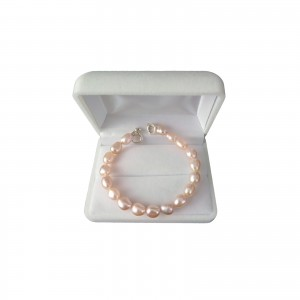 Bracelet - pearls light pink rice PB35-B