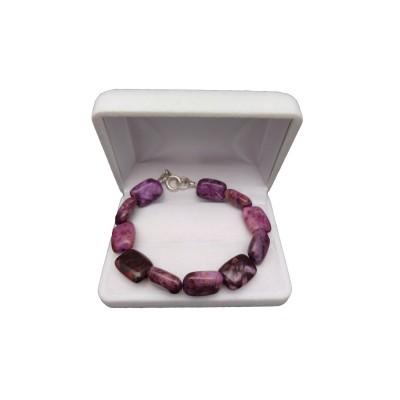 Bracelet purple agate PGBka21