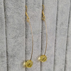 A wonderful set of faceted lemons with hanging earrings KZ16