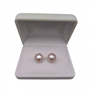 Earrings with real pink pearls 11 - 12 mm PK09-C