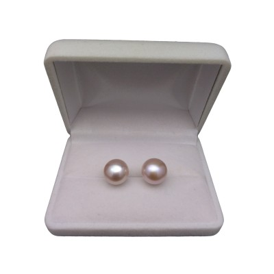 Earrings - pink pearls 11.5-12 mm PK09-C