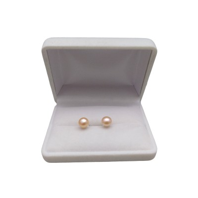 Earrings - pink pearls 7.5-8 mm PK04-B