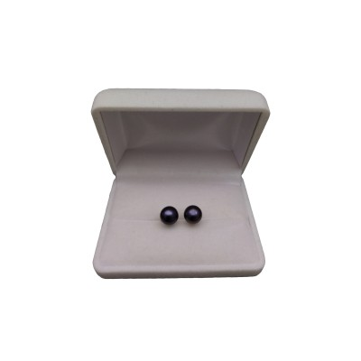 Earrings - black pearls PK10-C
