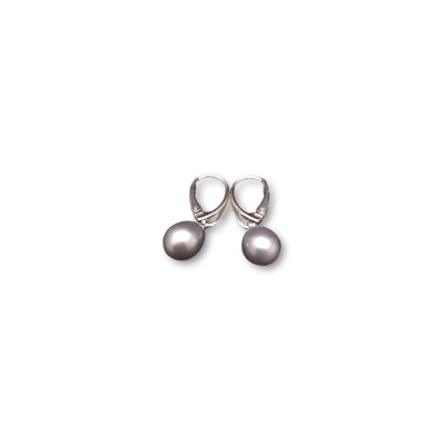 Earrings with silver pearls PK17