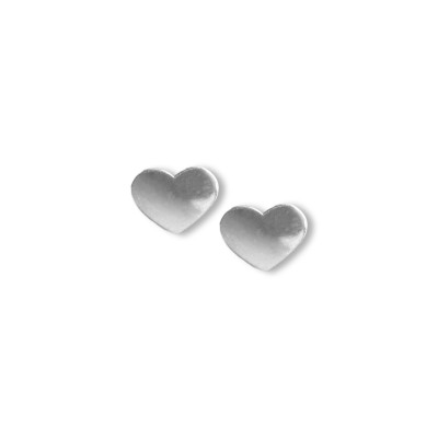Silver earrings large hearts SK11M