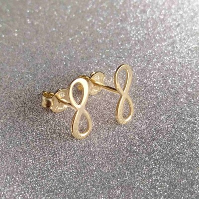 Silver earrings with infinity SK17M