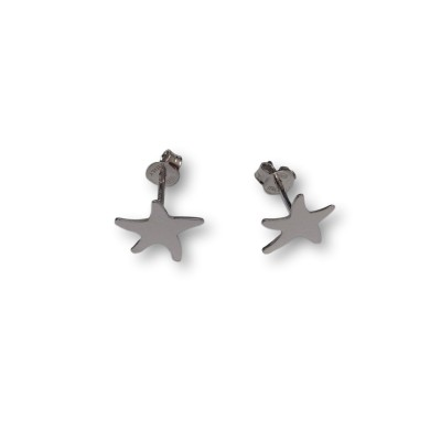 Silver earrings with stars SK25