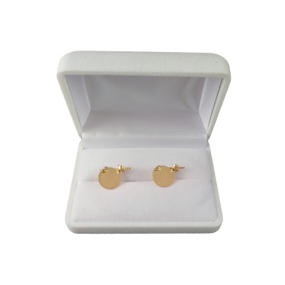 Silver earrings with gold plated rings SPK05