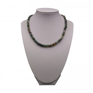 Necklace - agate green 42 cm KN10