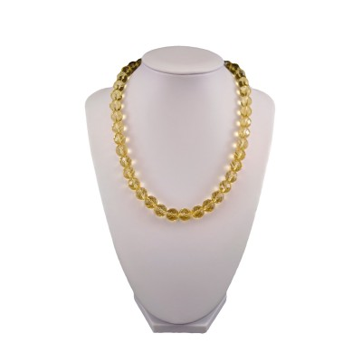 Necklace from faceted lemons with gold-plated clasp 44 cm KN16