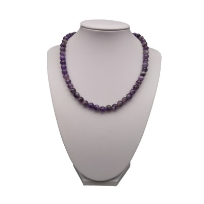 Necklace - amethyst 43 cm PGNka08