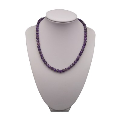 Necklace - amethyst 42 cm PGNka09