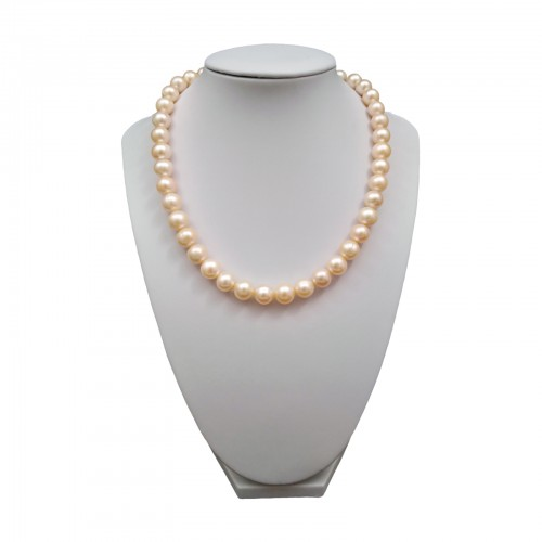 Necklace made of real pink pearls 43 cm PN13-C