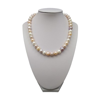 Necklace made of multi-colored pearls 43 cm PN13MIX