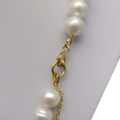 Necklace made of white pearls 47 cm PNP24