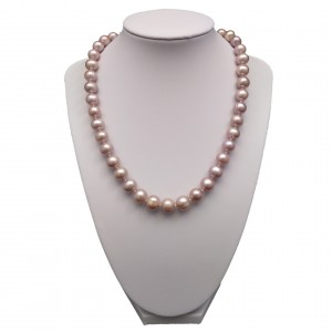 Necklace made of pink pearls PNS13-D
