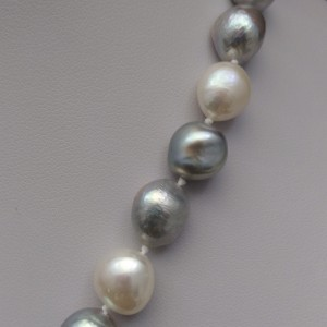 Necklace with real pearls, long cord 160 cm - mix color PEG03-A