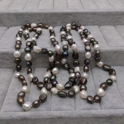 Cord of pearls 160 cm - color mix PEG03-B