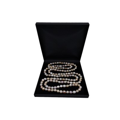 Cord of pearls 160 cm -  mix color PEG06
