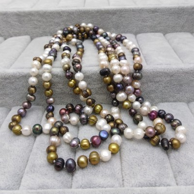 Cord of pearls 160 cm - color mix PEG07-B
