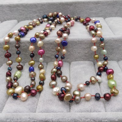 Cord of pearls 160 cm - PEG08 mix color