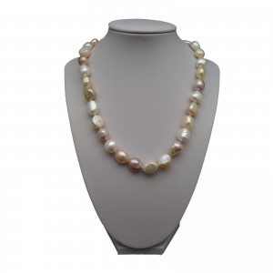 Necklace - big corn mix pearls PES07-1